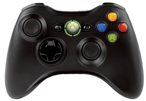 Xbox 360 - Controller Wireless R Black Original