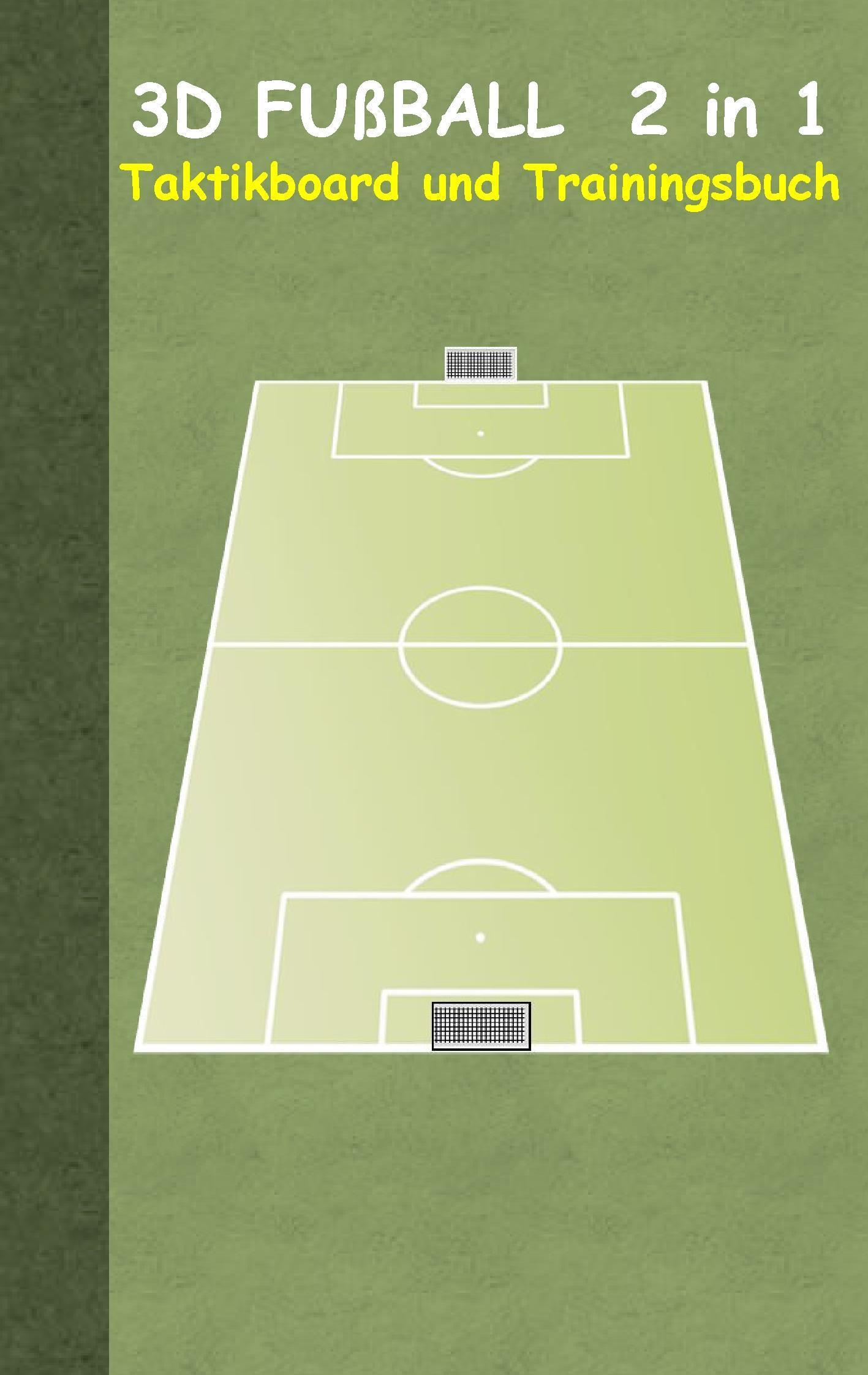 Fußball: 2 in 1 Notiz- und Taktikblock im Pocketformat (Postkart