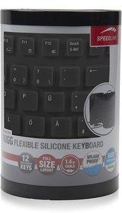 RUGG Flexible Silicone Keyboard, Tastatur, schwarz
