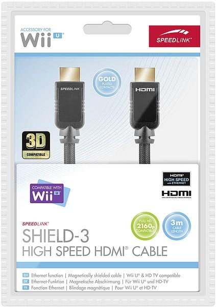 Speedlink SL-3456-BK-300 SHIELD-3 High Speed HDMI Kabel mit Ethe