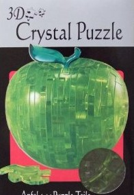 HCM 3025 - Crystal Puzzle: Apfel grün