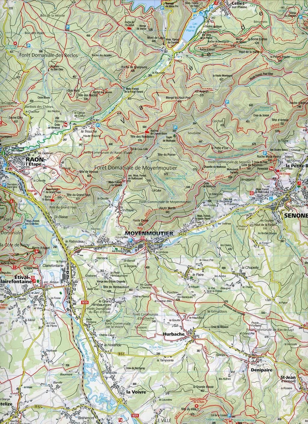 Elsass - Vogesen Mitte - Alsace - Vosges du Centre 1 : 50 000