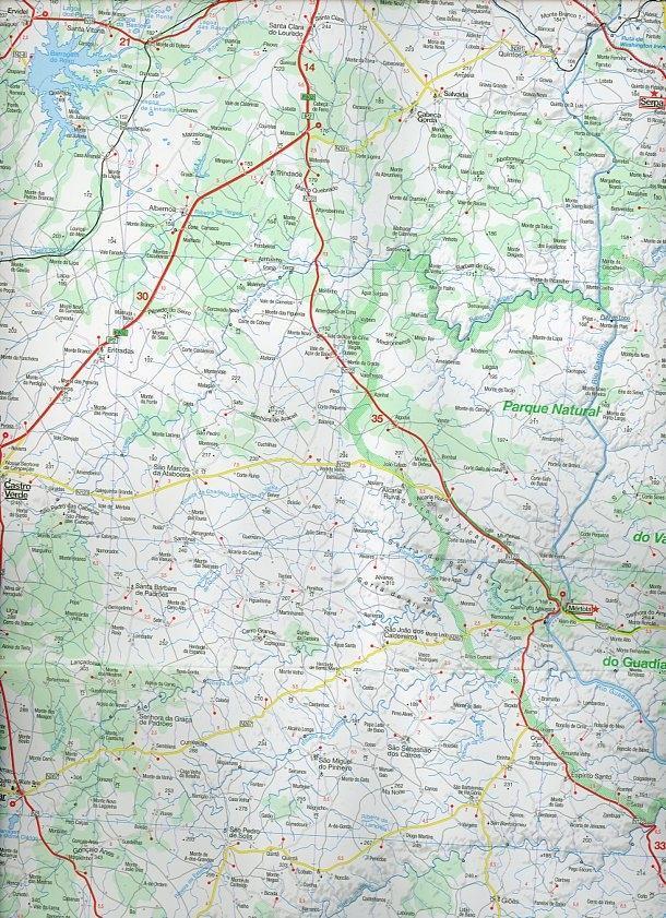 MARCO POLO Karte Algarve / Portugal Süd  1 : 200 000