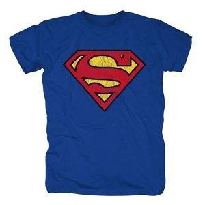 Superman Logo,Shirt,GR XL,Blau