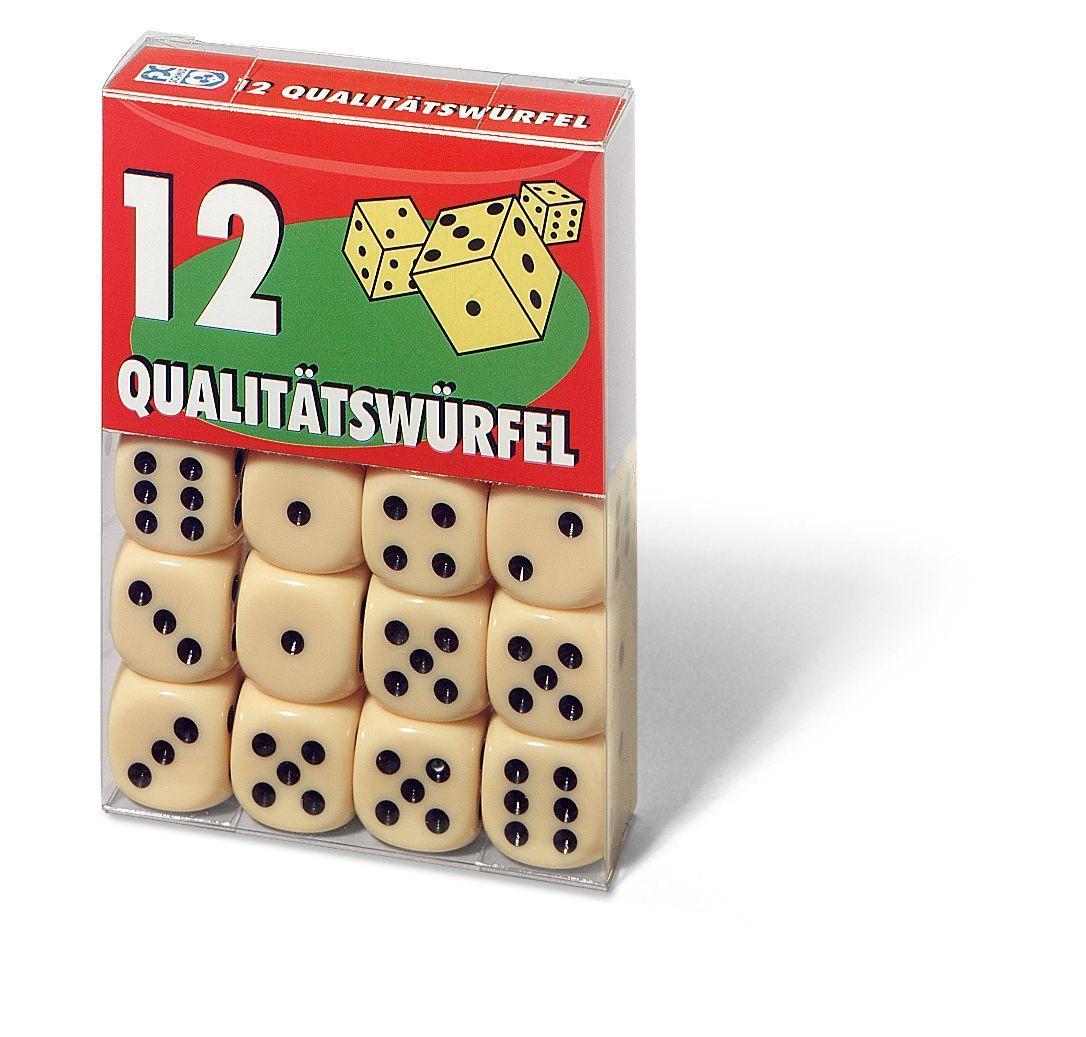 12 Qualitätswürfel in Klarsichtbox. FXS Würfeln/ Zubehör