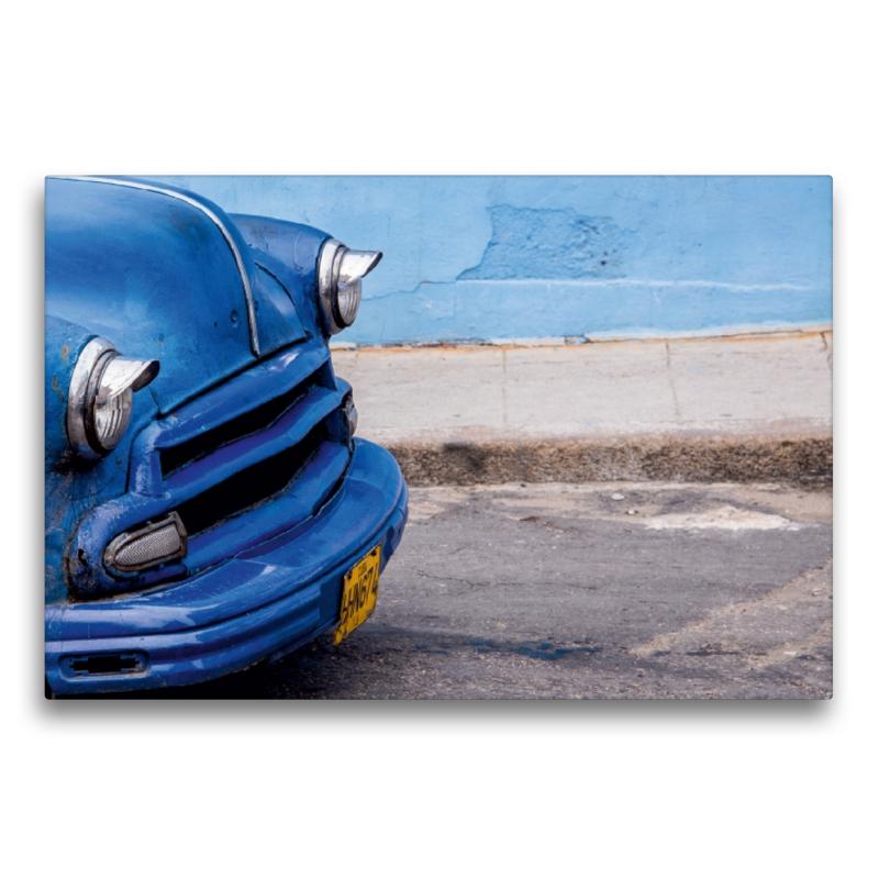 Premium Textil-Leinwand 75 cm x 50 cm quer Oldtimer in Havanna
