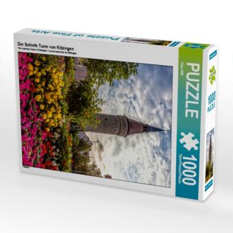 Der Schiefe Turm von Kitzingen 1000 Teile Puzzle hoch