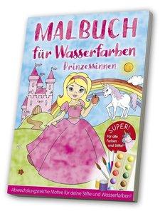 Malbuch f?r Wasserfarben - Prinzessinnen