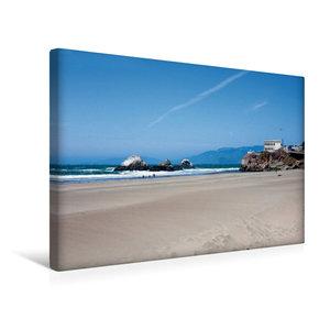 Premium Textil-Leinwand 45 cm x 30 cm quer ocean Beach