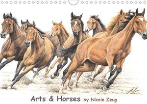 Arts & Horses (Wandkalender 2021 DIN A4 quer)