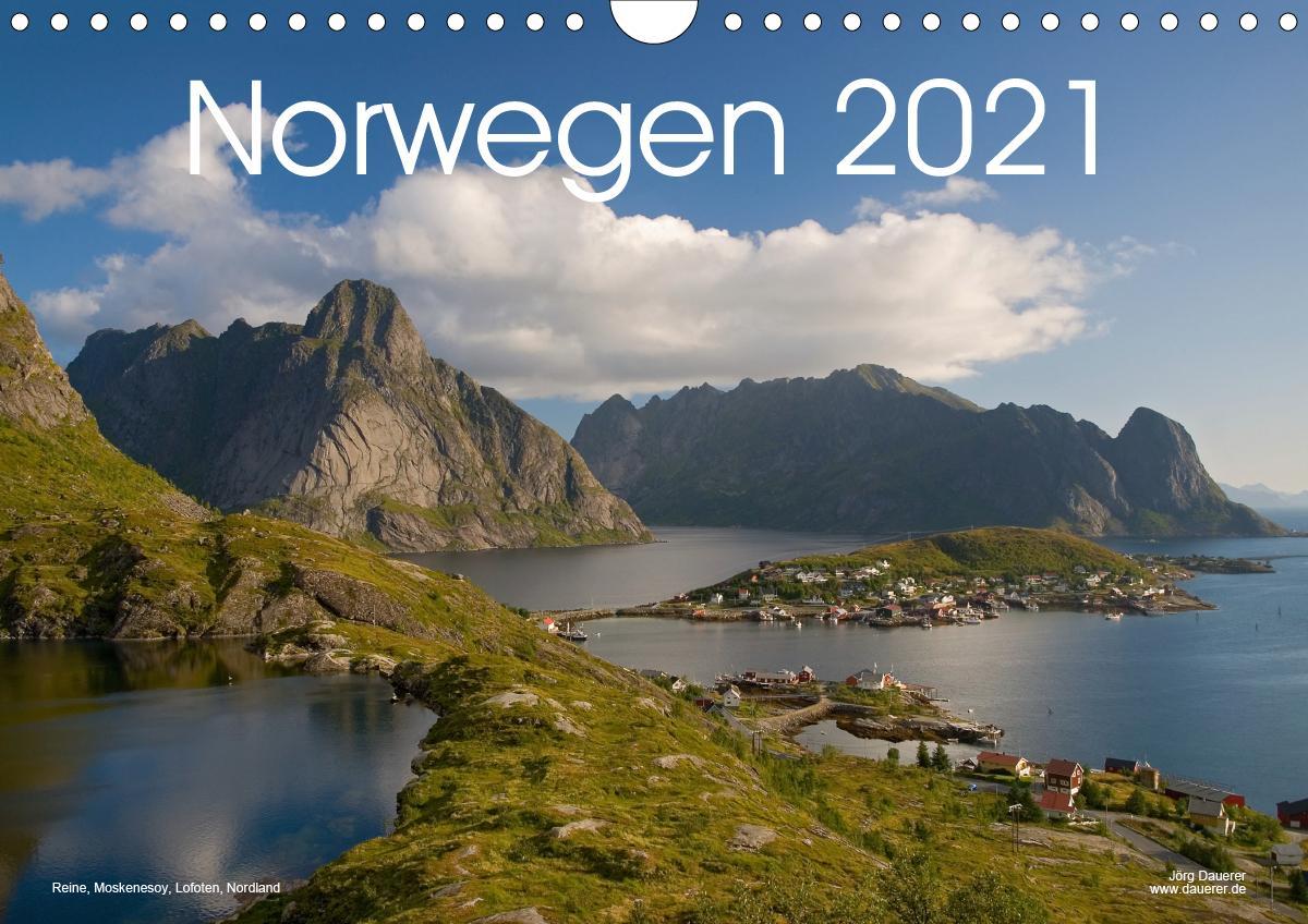 Norwegen (Wandkalender 2021 DIN A4 quer)