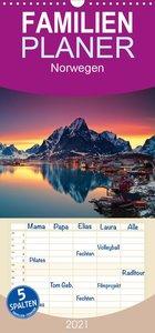 Norwegen - Familienplaner hoch (Wandkalender 2021 , 21 cm x 45 cm, hoch)