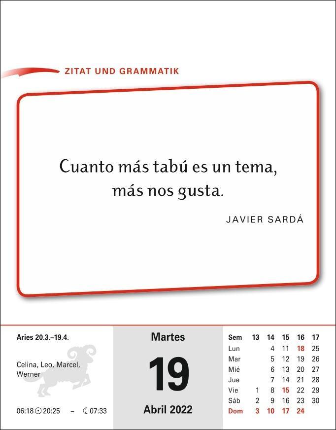 Sprachkalender Spanisch Kalender 2022