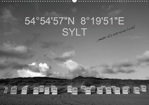 "54°54\'57\""N 8°19\'51\""E SYLT (Wandkalender 2021 DIN A2 quer)"