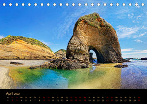 Südseetraum Neuseeland (Tischkalender 2022 DIN A5 quer)