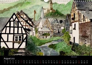Deutschland in Aquarell (Wandkalender 2022 DIN A3 quer)