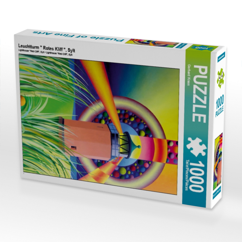 "Leuchtturm \"" Rotes Kliff \"", Sylt 1000 Teile Puzzle hoch"
