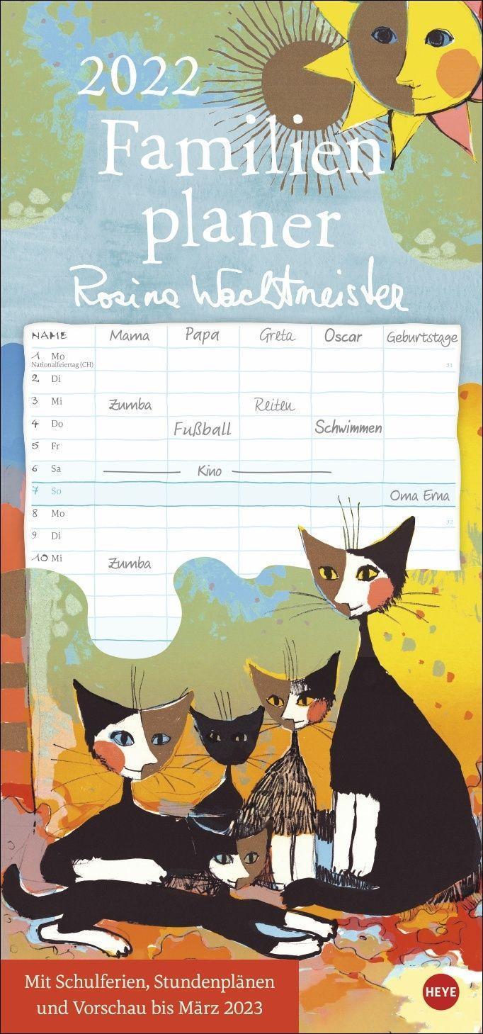 Rosina Wachtmeister Familienplaner Kalender 2022