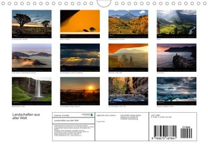 Landschaften aus aller Welt (Wandkalender 2022 DIN A4 quer)