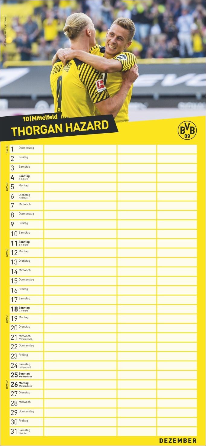 BVB Fanplaner Kalender 2022