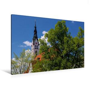 Premium Textil-Leinwand 120 cm x 80 cm quer Stadtpfarrkirche - M