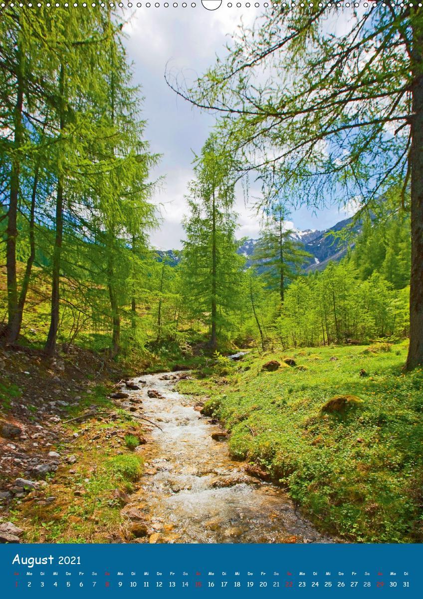 Der Weg des WassersAT-Version (Wandkalender 2021 DIN A2 hoch)