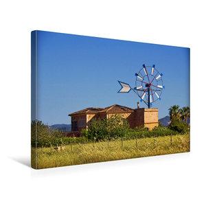Premium Textil-Leinwand 45 cm x 30 cm quer Typische Windm?hlen auf Mallorca