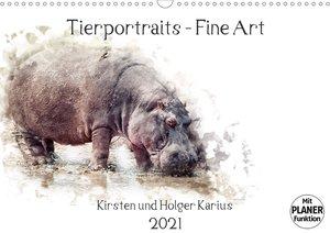 Tierportraits - Fine Art (Wandkalender 2021 DIN A3 quer)
