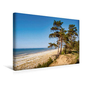 Premium Textil-Leinwand 45 cm x 30 cm quer Lubminer Strand