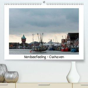 Nordseefeeling - Cuxhaven (Premium, hochwertiger DIN A2 Wandkale
