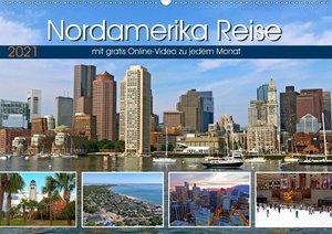 Reisekalender Nordamerika (Wandkalender 2021 DIN A2 quer)