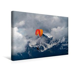 Premium Textil-Leinwand 45 cm x 30 cm quer Paragliding im Allg?u