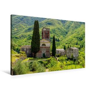 Premium Textil-Leinwand 90 cm x 60 cm quer Abbazia di Sant\'Andrea di Borzone