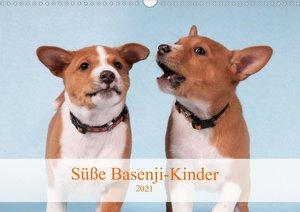 Süße Basenji-Kinder (Wandkalender 2021 DIN A3 quer)