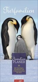 Tierfamilien Familienplaner Kalender 2022