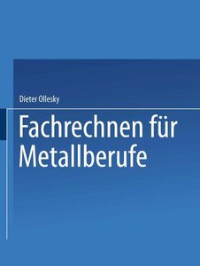 Fachrechnen für Metallberufe