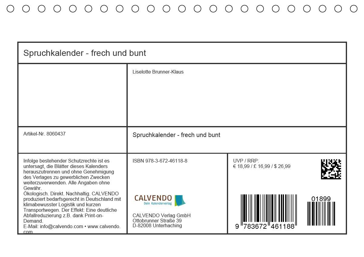 Spruchkalender - frech und bunt (Tischkalender 2021 DIN A5 quer)