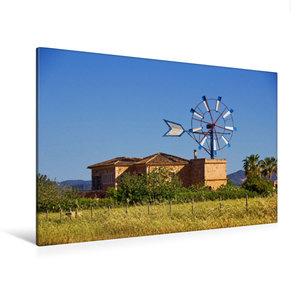 Premium Textil-Leinwand 120 cm x 80 cm quer Typische Windm?hlen auf Mallorca