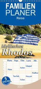 Idyllisches Rhodos - Familienplaner hoch (Wandkalender 2021 , 21