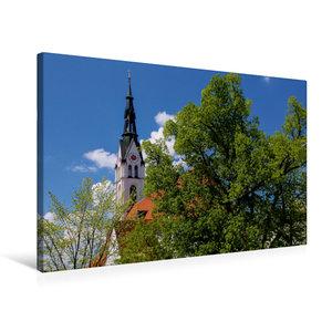 Premium Textil-Leinwand 75 cm x 50 cm quer Stadtpfarrkirche - Ma