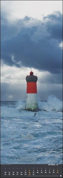 Jean Guichard: Leuchttürme Vertical Kalender 2022