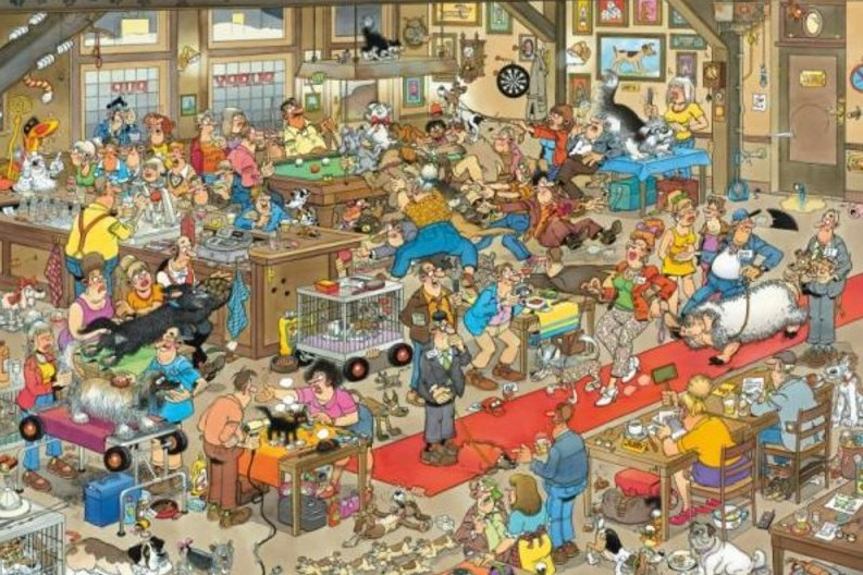 Jumbo Spiele 13035 - Jan van Haasteren: Die Hundeshow