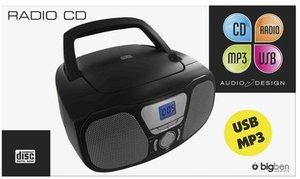 Tragbares CD/MP3/Radio CD46USB, schwarz