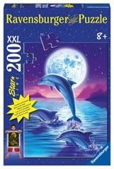 Ravensburger 13907 - Delfine im Mondlicht, Starline XXL-Puzzle,