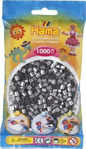 Hama 207-62 - Perlen silber, 1000 Stück