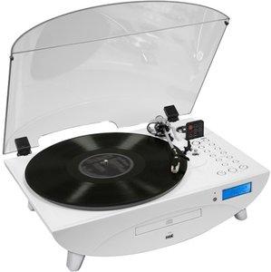 Plattenspieler Ellipse TD97 mit Radio, CD-/MP3-Player, weiss-glo