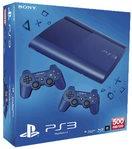 Sony PS3 Konsole 500GB blau + 2 Dual Shock blau