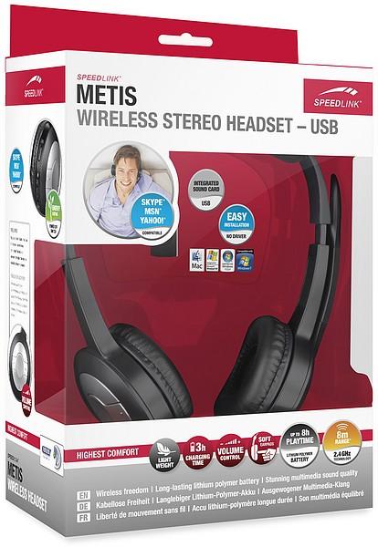Speedlink SL-8765-SBK-01 METIS Wireless Stereo Headset, schwarz