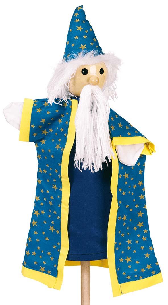 Goki 51993 - Handpuppe Zauberer, 27cm