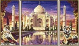 Schipper Malen nach Zahlen -Taj Mahal Denkmal der Liebe (Triptyc